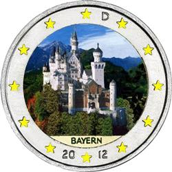 Obverse of Germany 2 euros 2012 - Neuschwanstein Castle (Bavaria)