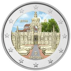 Obverse of Germany 2 euros 2016 - Zwinger Palace in Dresden