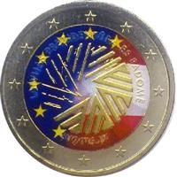 Image of Latvia 2 euros colored euro