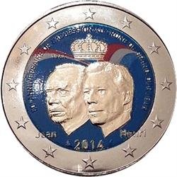 Obverse of Luxembourg 2 euros 2014 - Grand Duke Jean Accession to the Throne