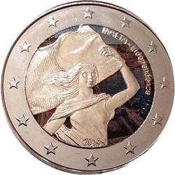 Obverse of Malta 2 euros 2014 - Independence from Britain in 1964