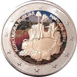 Obverse of Portugal 2 euros 2014 - International Year of Family Farming