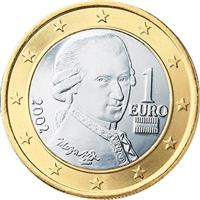 Image of Austria 1 euro coin