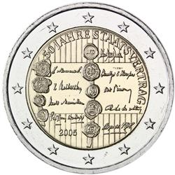 Obverse of Austria 2 euros 2005 - 50th anniversary of the Austrian State Treaty