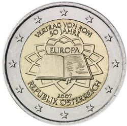 Obverse of Austria 2 euros 2007 - 50th anniversary of the Treaty of Rome