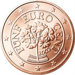 Obverse of Austria 5 cents 2008 - The primrose, a flower of the Austrian Alps