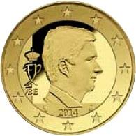 Obverse of Belgium 10 cents 2017 - Effigy and monogram of King Filip