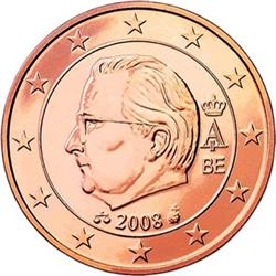 Obverse of Belgium 2 cents 2009 - Effigy and monogram of King Albert II