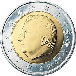 Obverse of Belgium 2 euros 2005 - Effigy and monogram of King Albert II