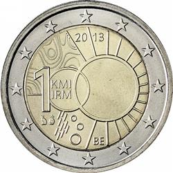 Obverse of Belgium 2 euros 2013 - 100 Years of Royal Meteorological Institute