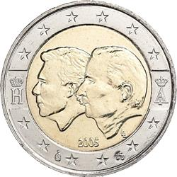 Obverse of Belgium 2 euros 2005 - Belgium-Luxembourg Economic Union