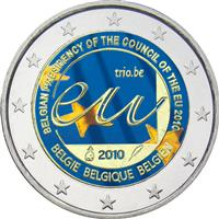 Image of Belgium 2 euros colored euro