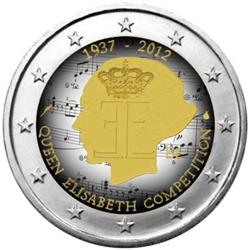 Obverse of Belgium 2 euros 2012 - Queen Elisabeth Music Competition