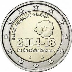 Obverse of Belgium 2 euros 2014 - The Great War Centenary