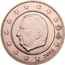 Obverse of Belgium 5 cents 2004 - Effigy and monogram of King Albert II