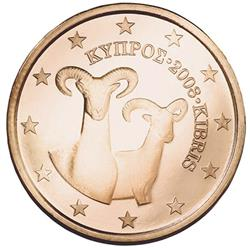 Obverse of Cyprus 5 cents 2011 - The muflon