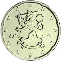 Obverse of Finland 20 cents 2017 - The heraldic lion of Finland