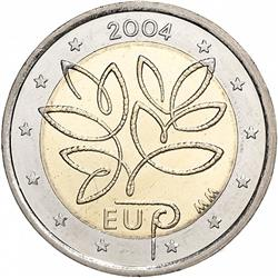 Obverse of Finland 2 euros 2004 - Enlargement of the European Union