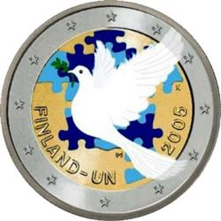 Obverse of Finland 2 euros 2005 - 60th anniversary of the United Nations