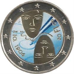 Obverse of Finland 2 euros 2006 - 100th anniversary of universal and equal suffrage
