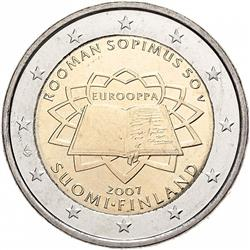 Obverse of Finland 2 euros 2007 - 50th anniversary of the Treaty of Rome
