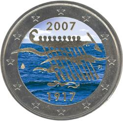 Obverse of Finland 2 euros 2007 - 90th anniversary of Finland's independence