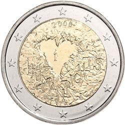Obverse of Finland 2 euros 2008 - 60th Anniversary of the Universal Declaration of Human Rights