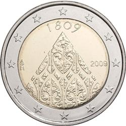 Obverse of Finland 2 euros 2009 - 200th Anniversary of Finnish Autonomy