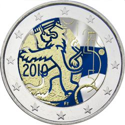 Obverse of Finland 2 euros 2010 - Currency Decree of 1860