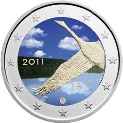Obverse of Finland 2 euros 2011 - 200th Anniversary of the Bank of Finland