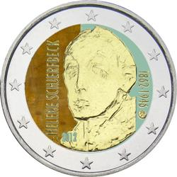 Obverse of Finland 2 euros 2012 - 150th anniversary of birth of Helene Schjerfbeck