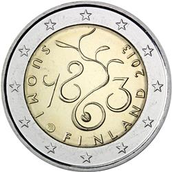 Obverse of Finland 2 euros 2013 - The Diet of 1863