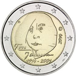 Obverse of Finland 2 euros 2014 - 100 Years since the Birth of Tove Jansson