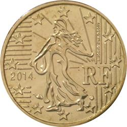 Obverse of France 10 cents 2013 - The sower, a theme carried over from the franc