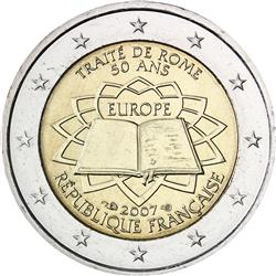 Obverse of France 2 euros 2007 - 50th anniversary of the Treaty of Rome