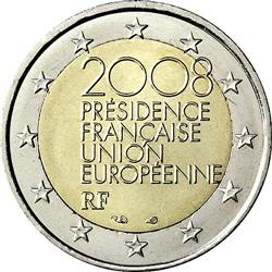 Obverse of France 2 euros 2008 - French Presidency of the Council of the European Union