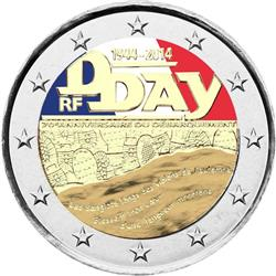 Obverse of France 2 euros 2014 - 70 Years since D-Day