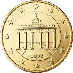 Obverse of Germany 10 cents 2003 - The Brandenburg Gate