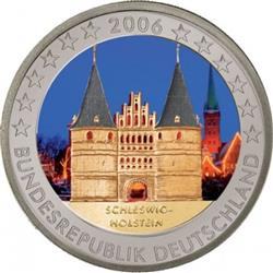 Obverse of Germany 2 euros 2006 - Holstentor in Lubeck