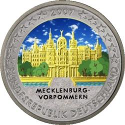 Obverse of Germany 2 euros 2007 - Mecklenburg -West Pomerania - Schwerin Castle