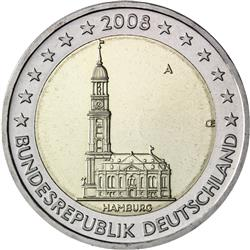 Obverse of Germany 2 euros 2008 - St. Michaeliskirche