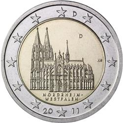 Obverse of Germany 2 euros 2011 - Cologne Cathedral (North-Rhine Westphalia)