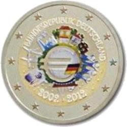 Obverse of Germany 2 euros 2012 - 10 years of euro banknotes and coins