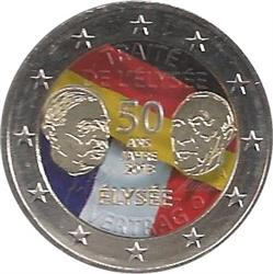 Obverse of Germany 2 euros 2013 - 50 Years of Franco-German Friendship (Elysee Treaty)