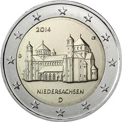 Obverse of Germany 2 euros 2014 - St. Michael's Church