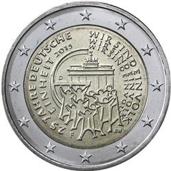 Obverse of Germany 2 euros 2015 - 25 years of German Unity