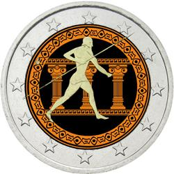 Obverse of Greece 2 euros 2010 - 25th Centenary of the Battle of Marathon