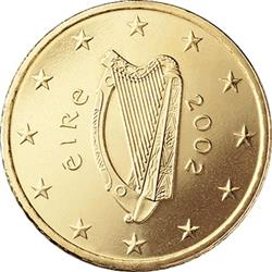 Obverse of Ireland 10 cents 2008 - Celtic Harp