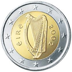 Obverse of Ireland 2 euros 2013 - Celtic Harp