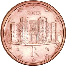 Obverse of Italy 1 cent 2006 - Castle del Monte